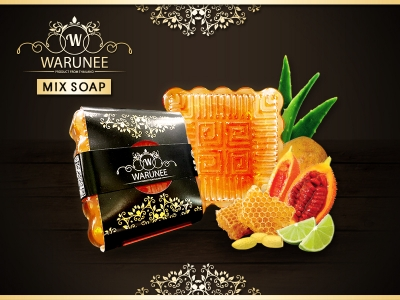 Warunee Beauty - ( Sqaure 50G. - Mix Soap )