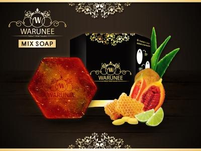 Warunee Beauty - ( Hexagon 100G. - Mix Soap )