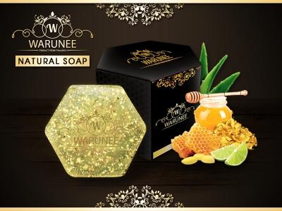 Warunee Beauty - ( Hexagon 100G. - Natural Soap )