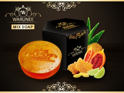 Warunee Beauty - ( Circle 100G. - Mix Soap )